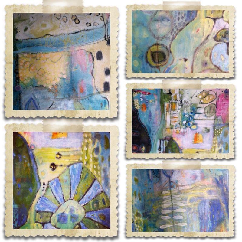 Collage in garden